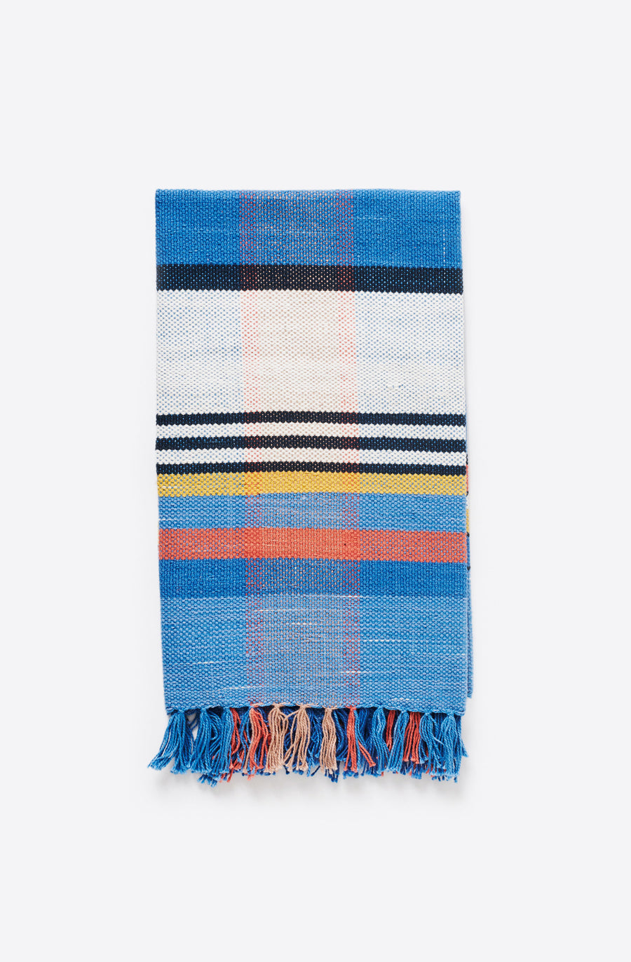 Handwoven Plaid Towel-blue plaid