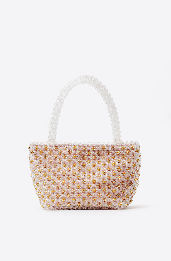 Mina Beaded Mini Tote-gold jewel