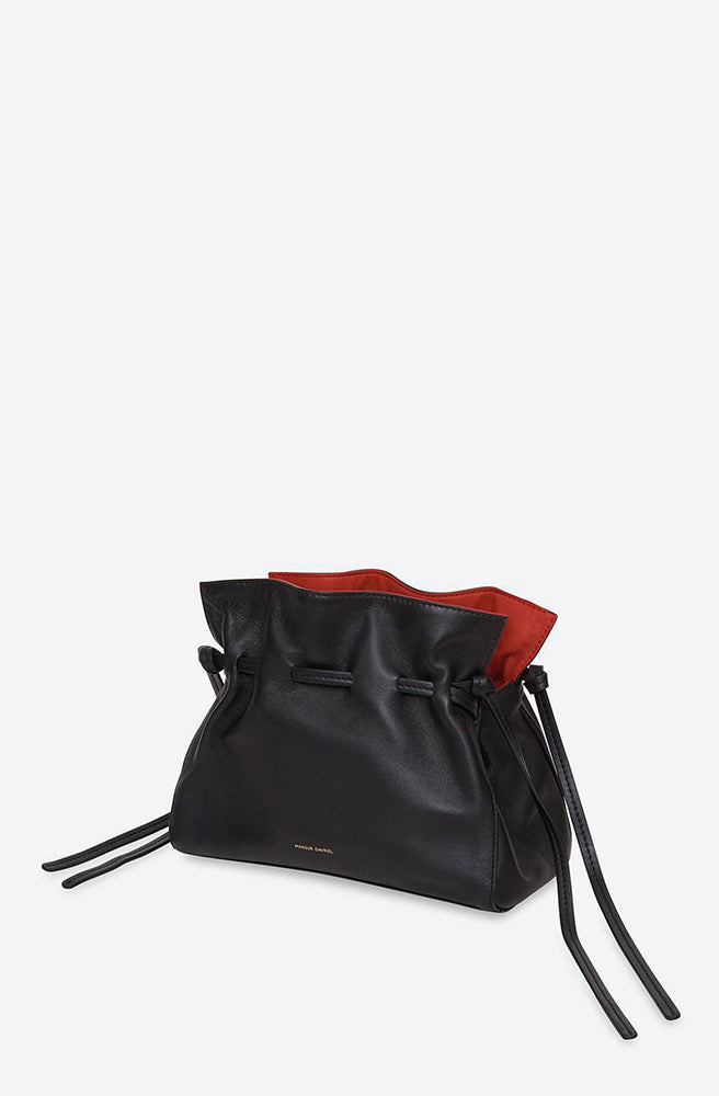 Mini Lambskin Protea Bag-black/flamma