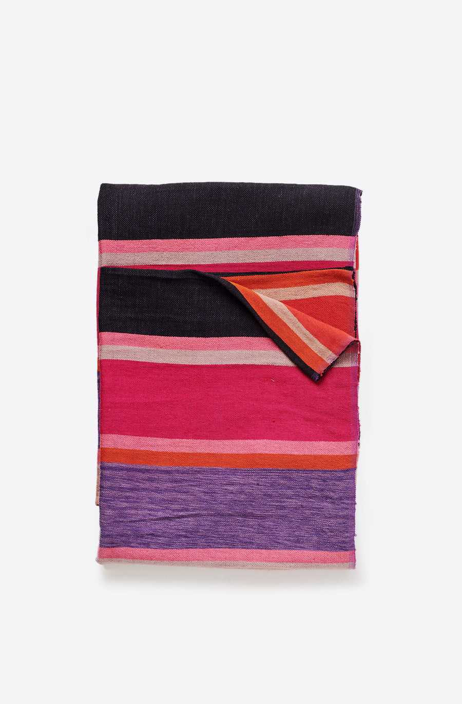 Purple Striped Blanket-purple