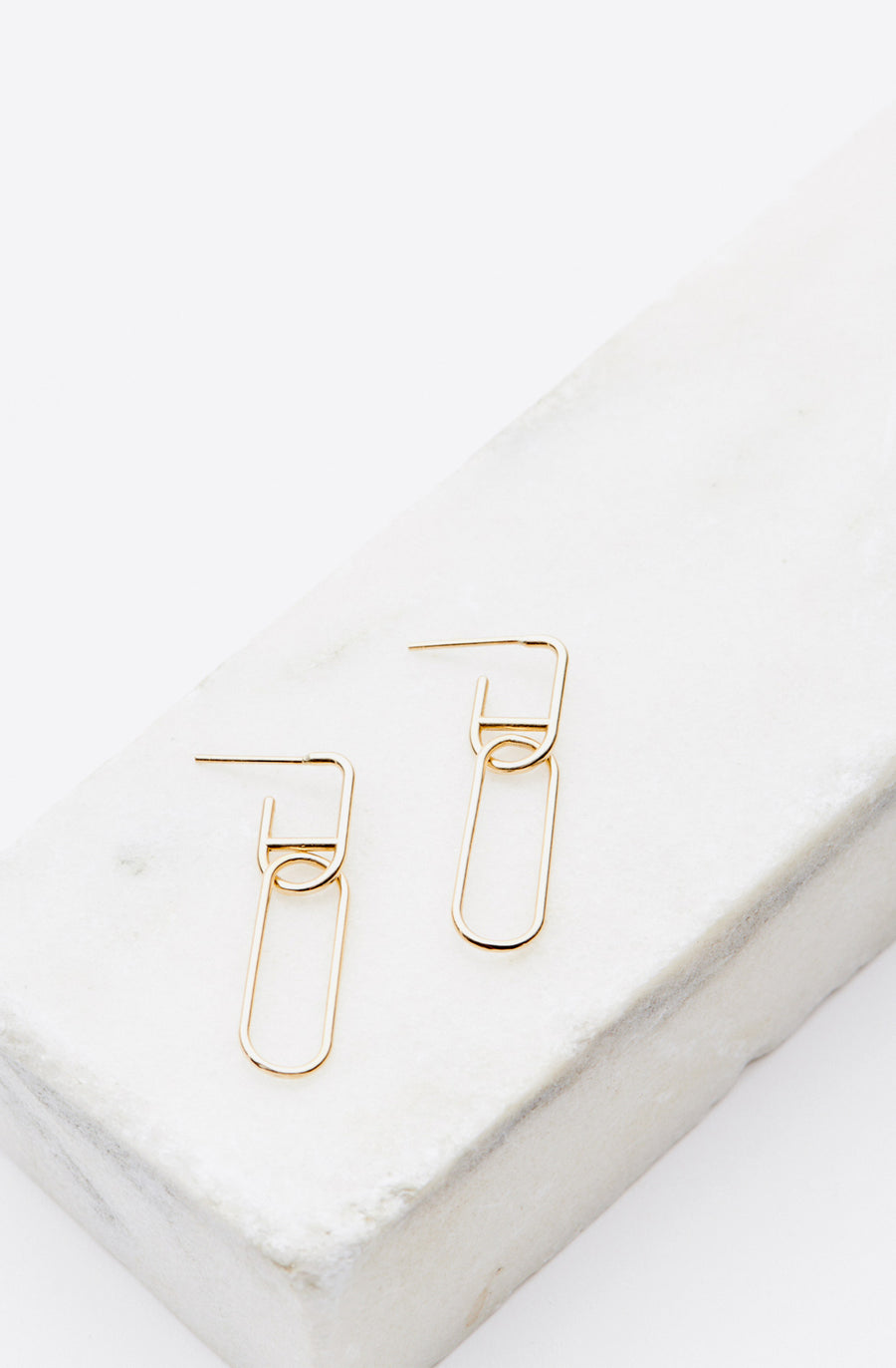 Double Link Drop Studs-14K yellow gold
