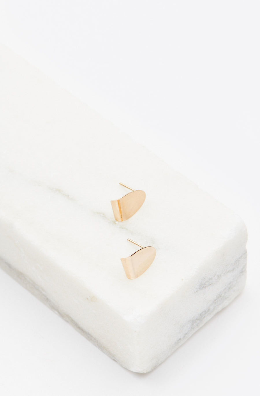 Cone Taco Stud Earrings-14K yellow gold