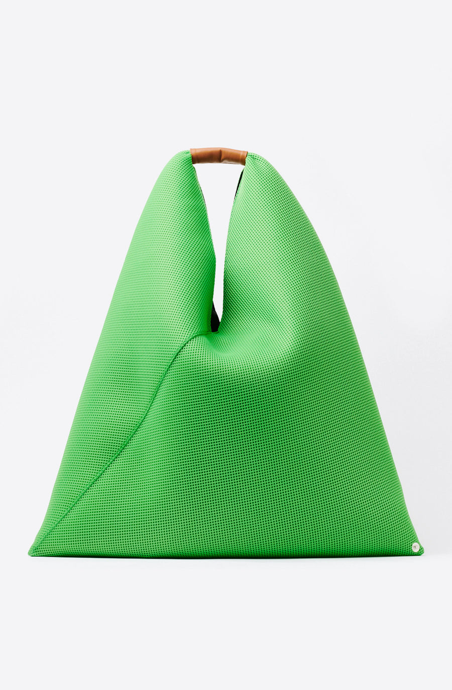 Medium Mesh Triangle Tote-apple green