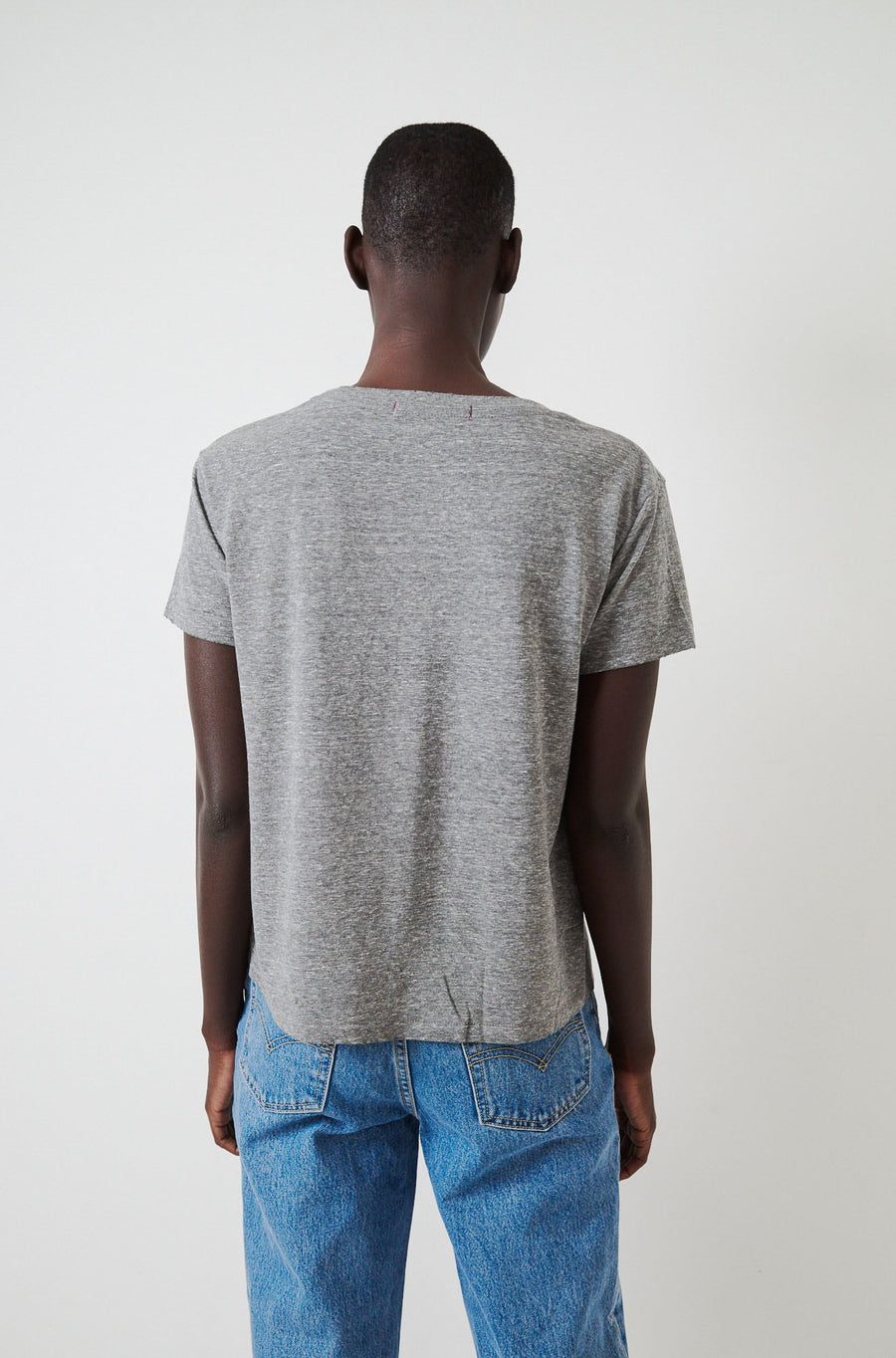 Twist Tee-heather grey
