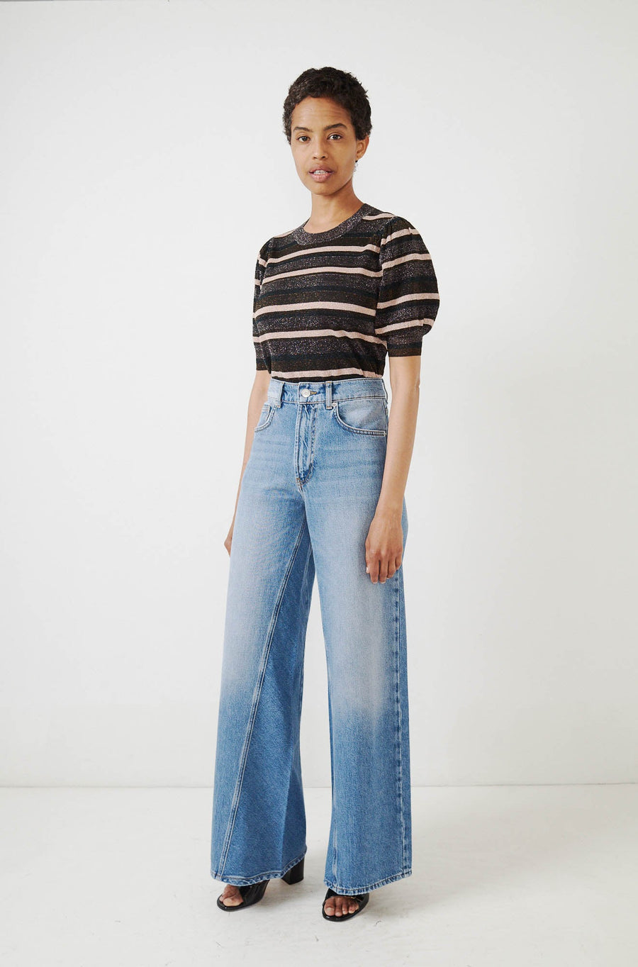 Classic Denim Jeans-bleached denim