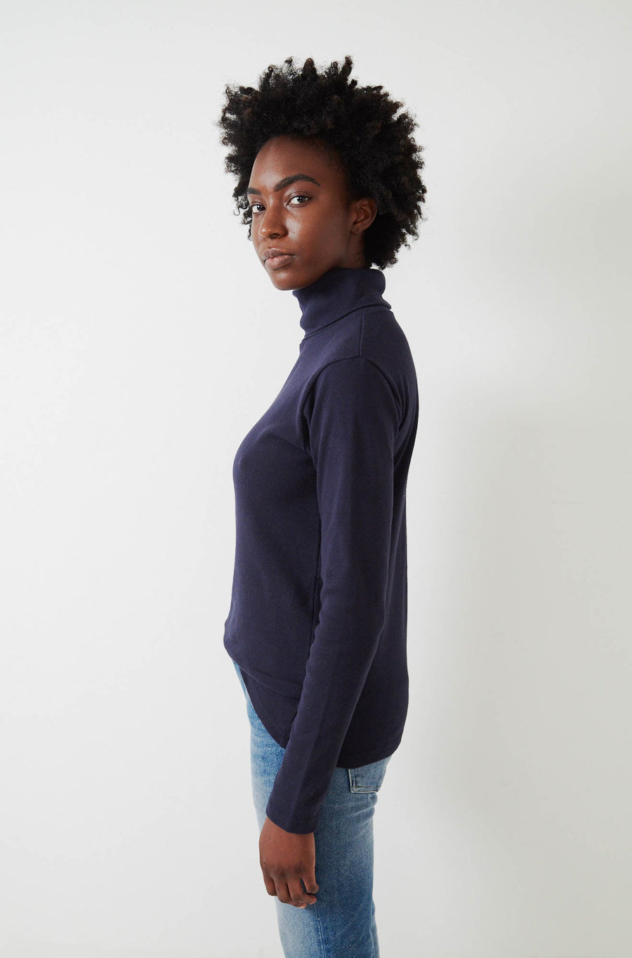 Jersey Turtleneck-navy