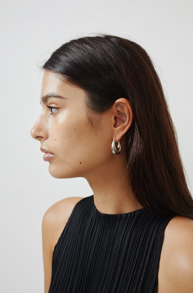 Large Blanche Hoops-sterling silver