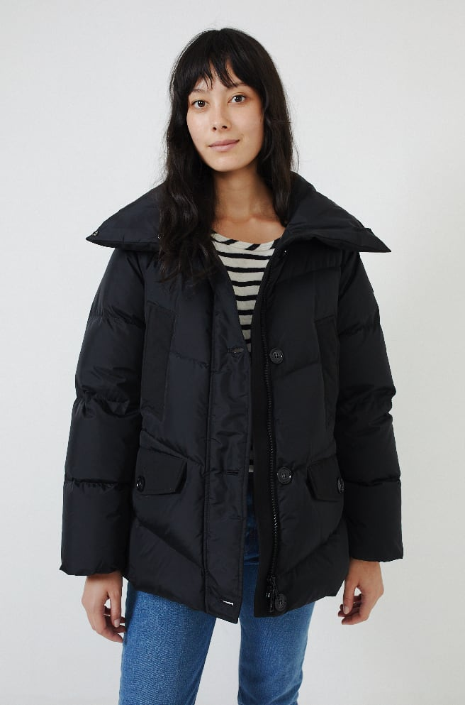 Quilted Puffer Coat-black
