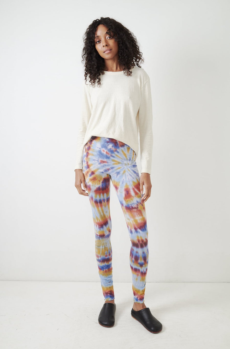 Tie Dye Jersey Leggings-rainbow