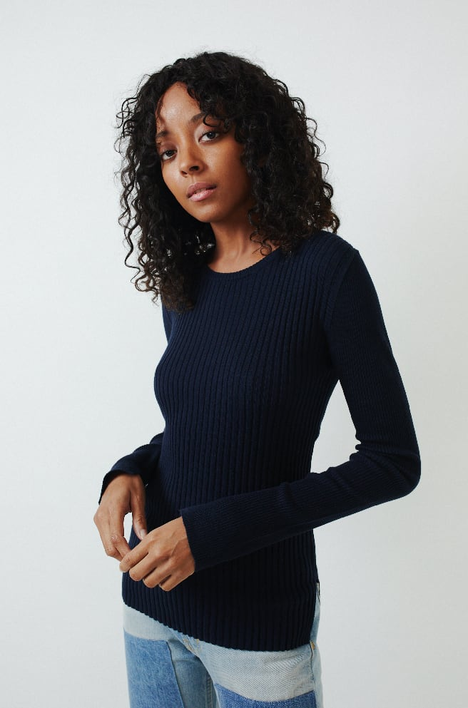 Ribbed Crewneck Sweater-eclipse