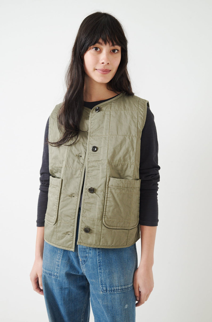 Christopher Quilted Vest-military green