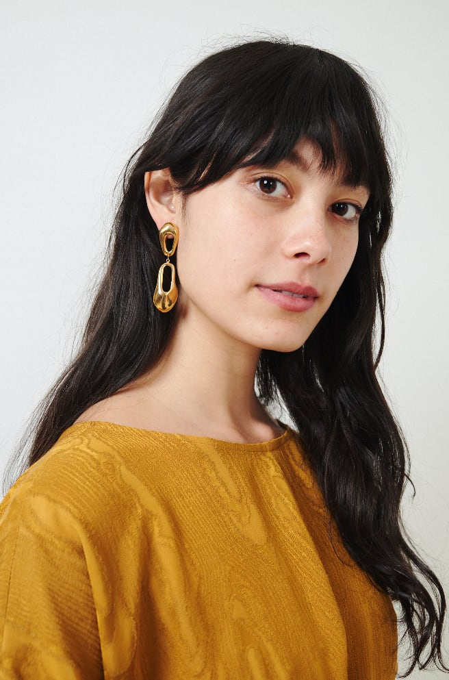Bedouin Earrings-18k hard plated gold