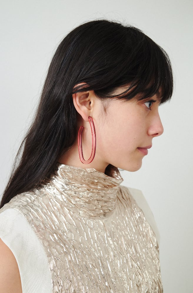 Maya Earrings-clear pink
