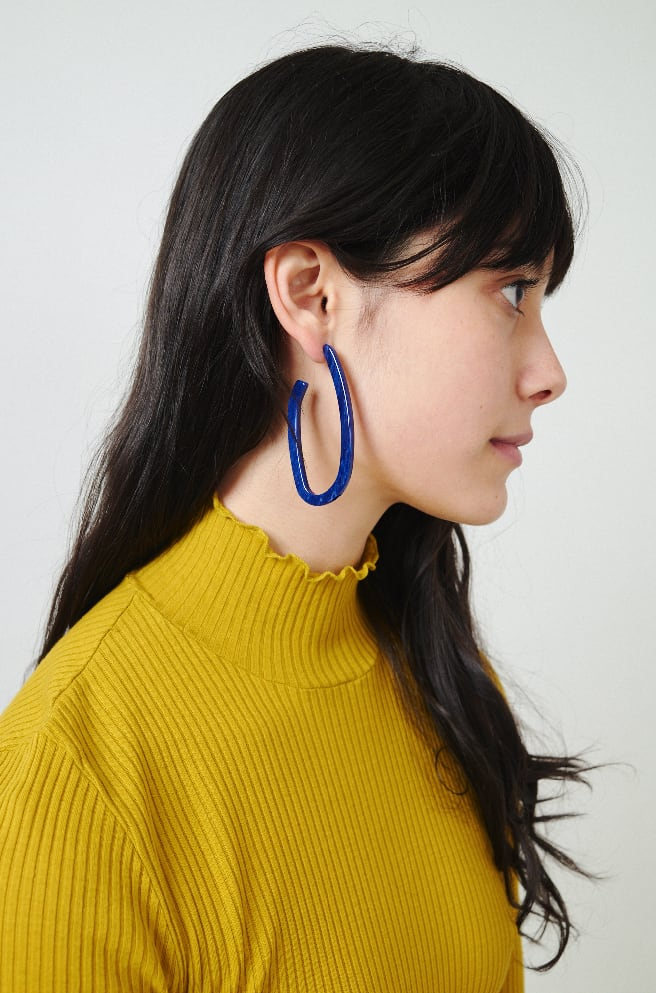 Maya Earrings-lapis marble