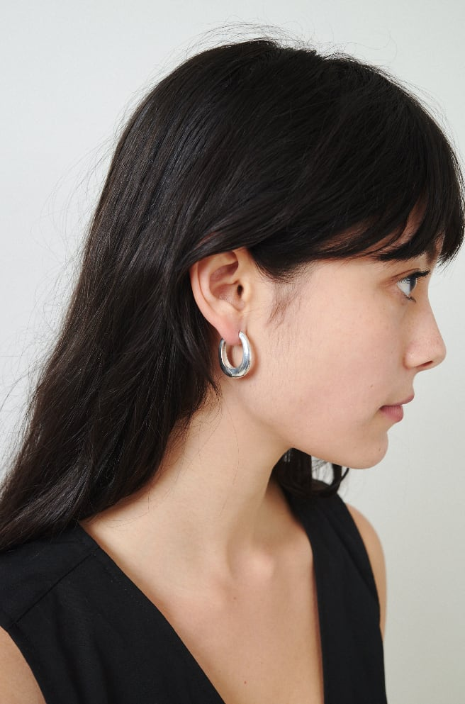 Slim Hinged Hoops-sterling silver