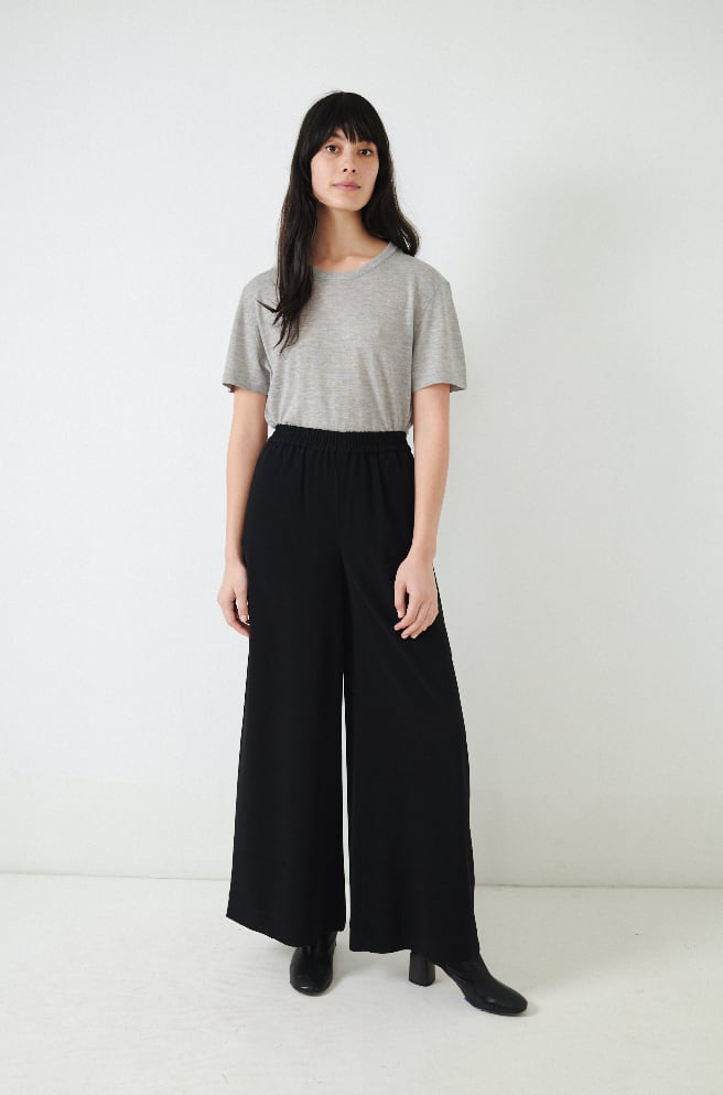 Japanese Crepe Pull-On Pant-black