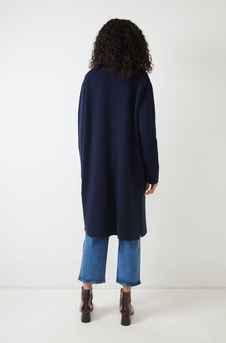 Hall Sweater Coat-navy