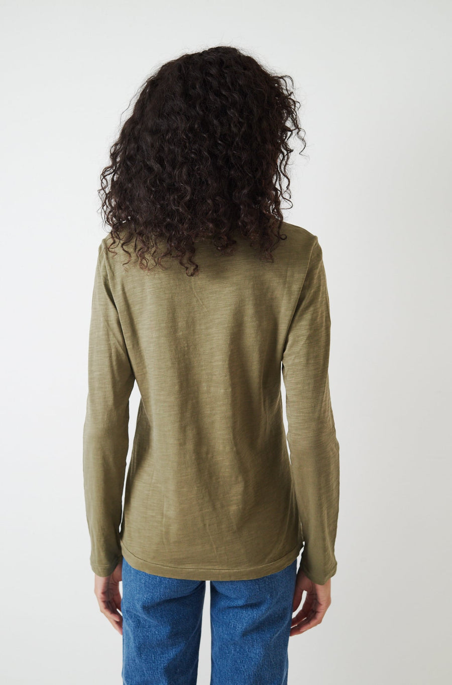 Standard Long Sleeve T-Shirt-dark olive