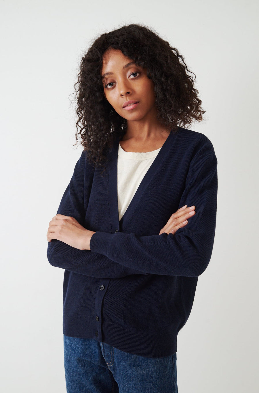 Liliana Cardigan-navy