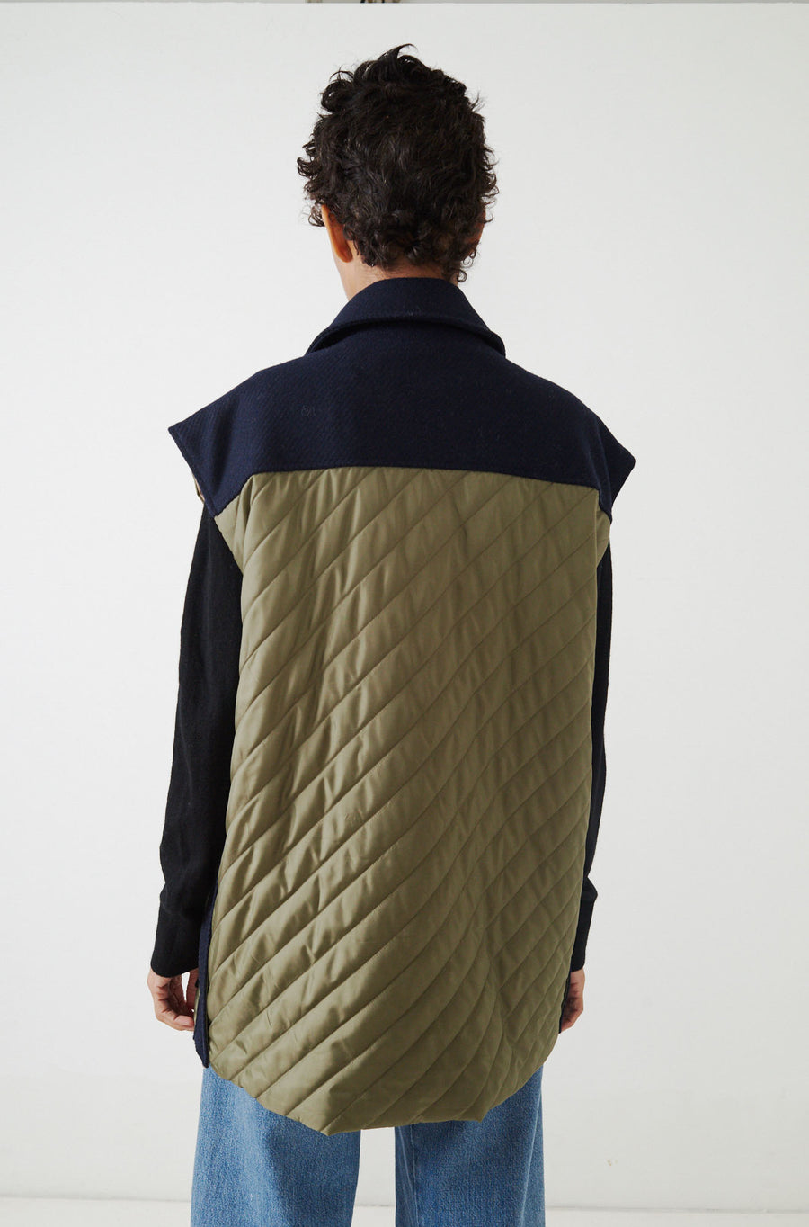Tech Quilted Vest-sky captain