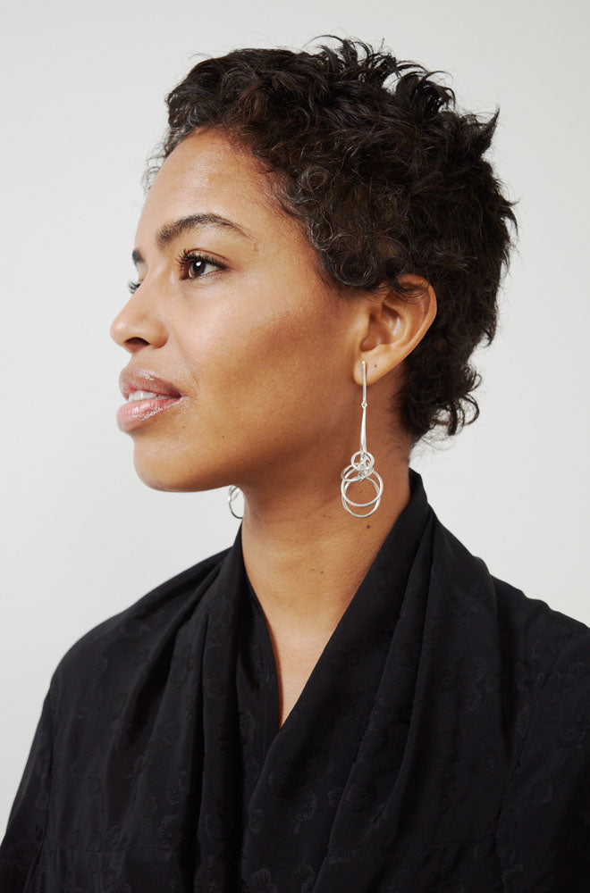 Sila Earrings-silver