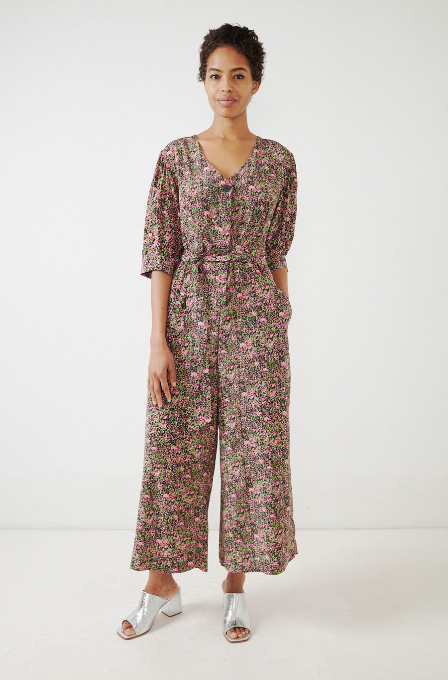 Francesca Jumpsuit-black/pink field