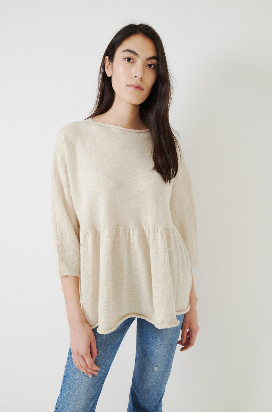 Tier Pullover-ivory flax