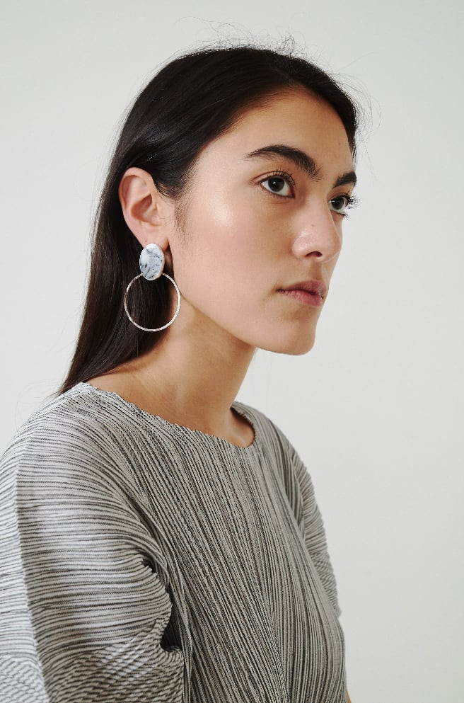 Motion Hoops-sterling silver