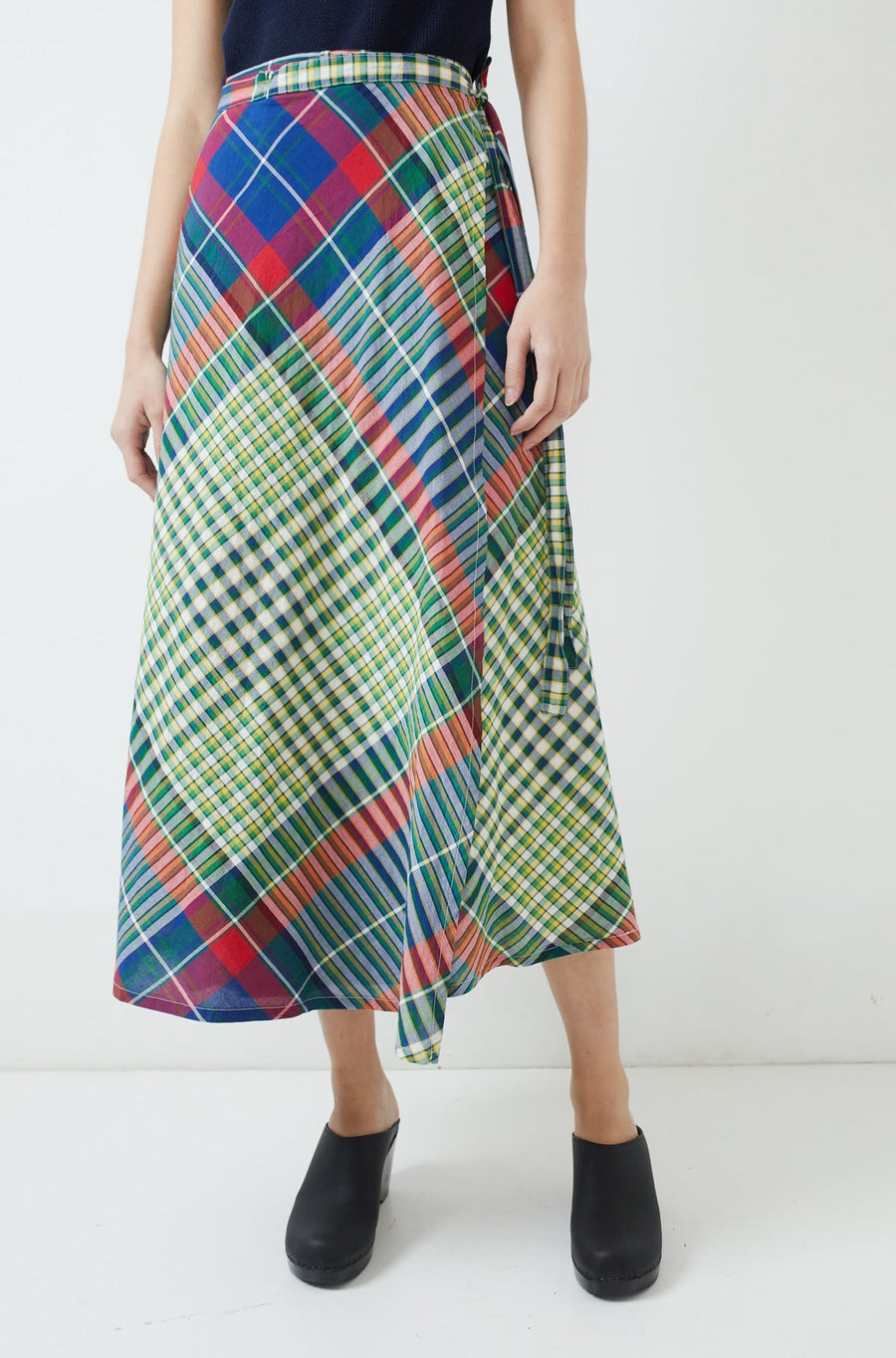 Wrap Skirt-red/blue/green