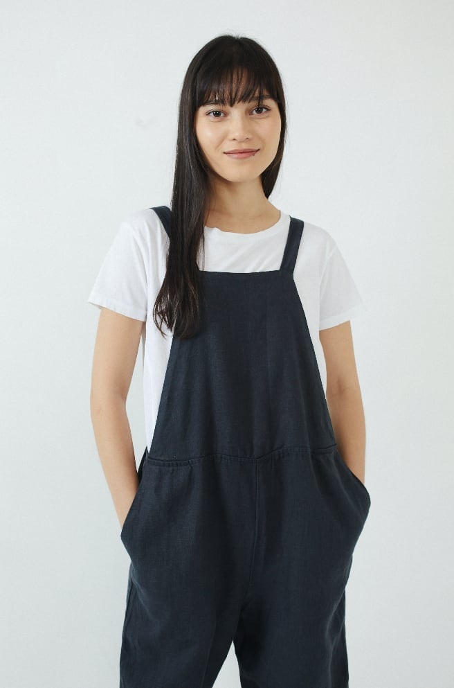 Sack Overalls-faded black