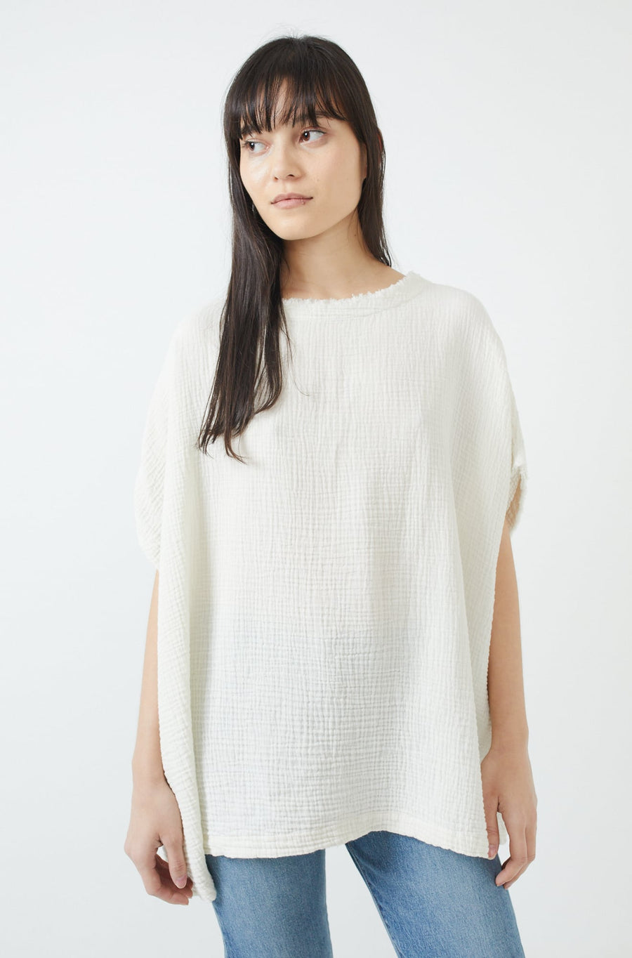 Double Gauze Top-cream