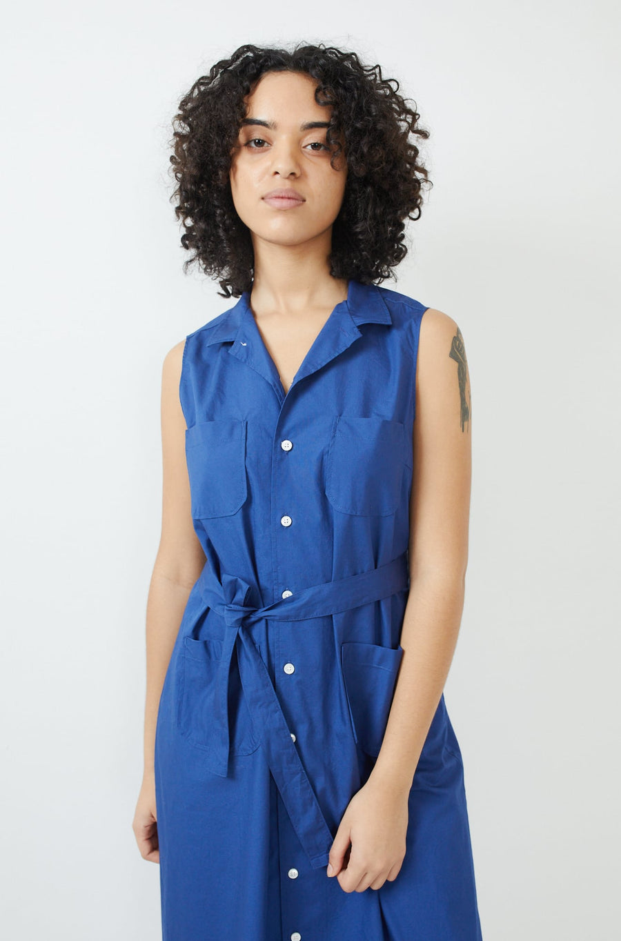 Classic Shirt Dress-royal