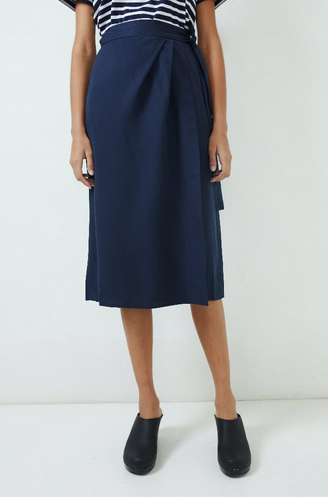 Wrap Skirt-dark navy