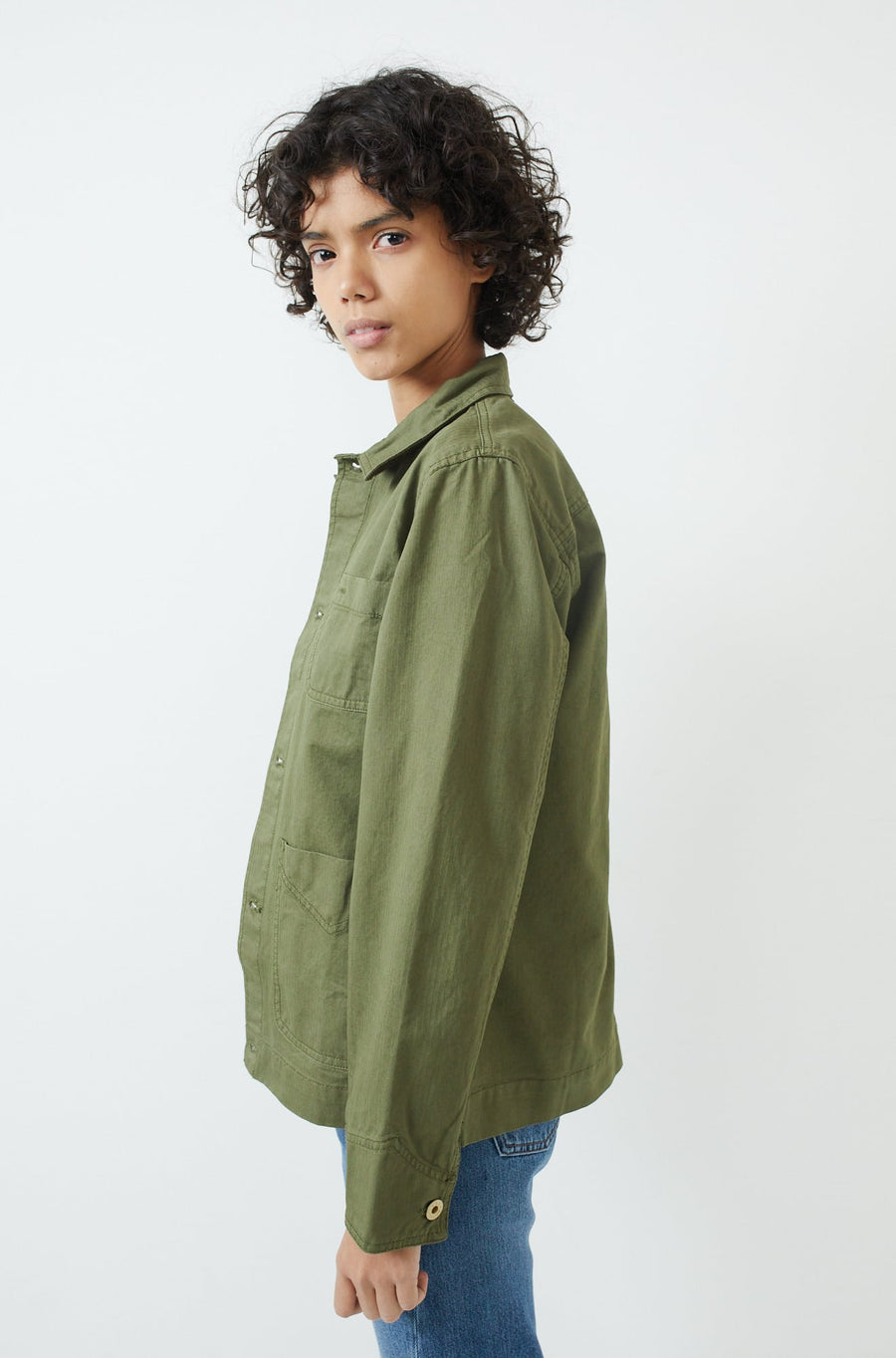 Garment-Dyed Work Jacket-army olive