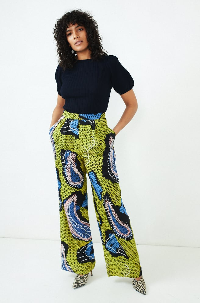 Pamod Trousers-yellow paisley