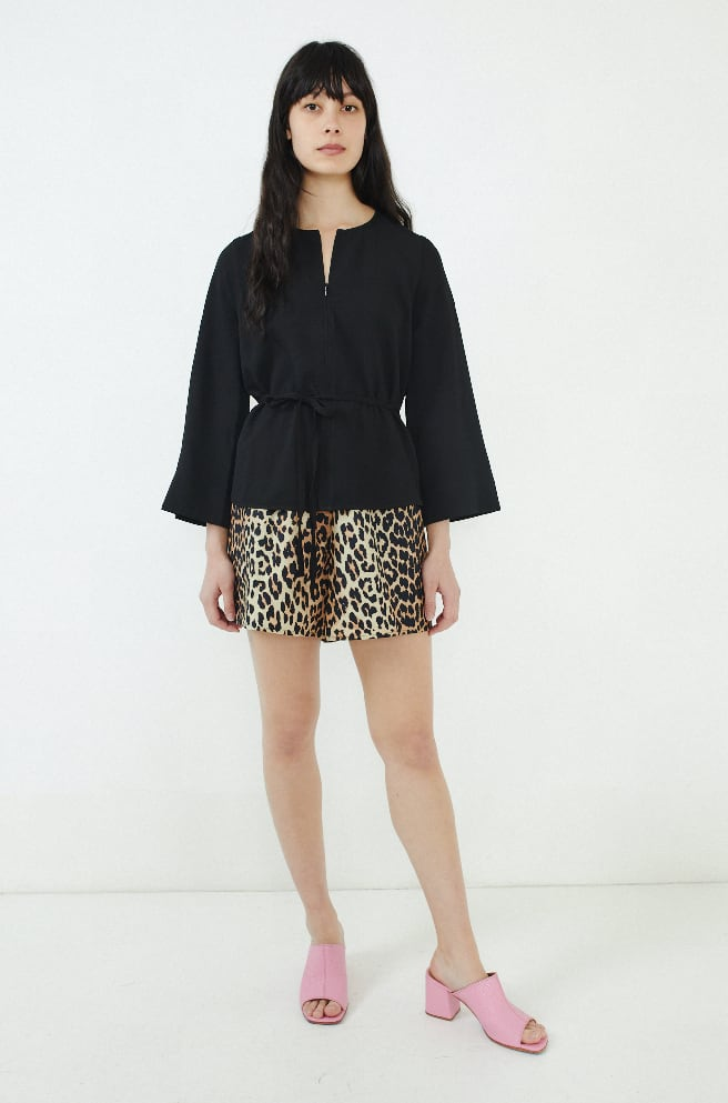 Heavy Crepe Top-black