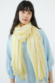 Cabana Stripe Oblong Scarf-yellow glow