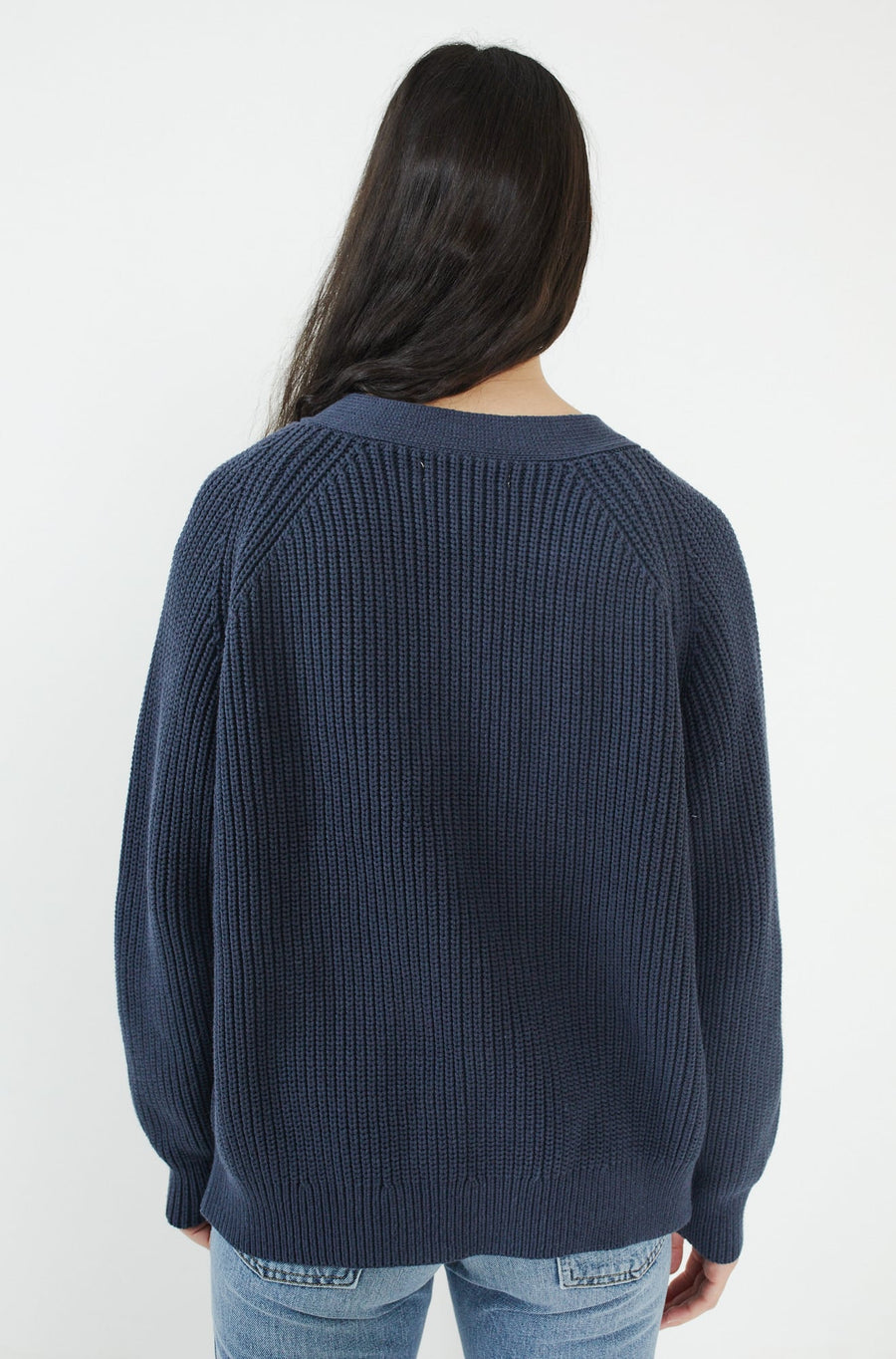 Silk Darling Cardigan-navy