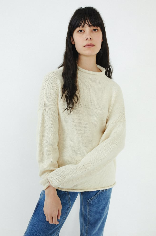 Bateau Rollneck Sweater-raw white