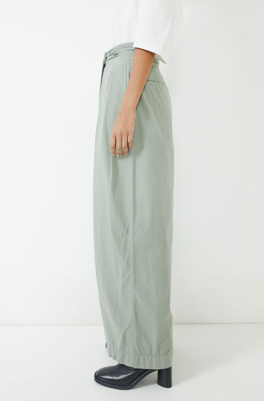 Asymmetrical Pants-khaki grey