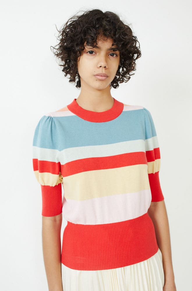 Bijou Sweater-red/blue multi