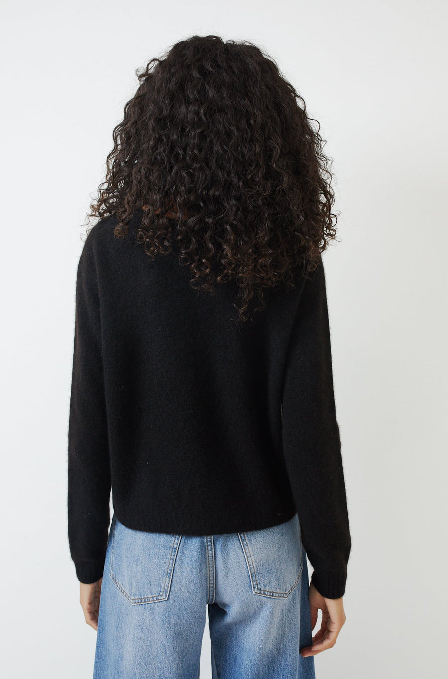 Cashmere Seamless Shibori Pullover-black/light grey
