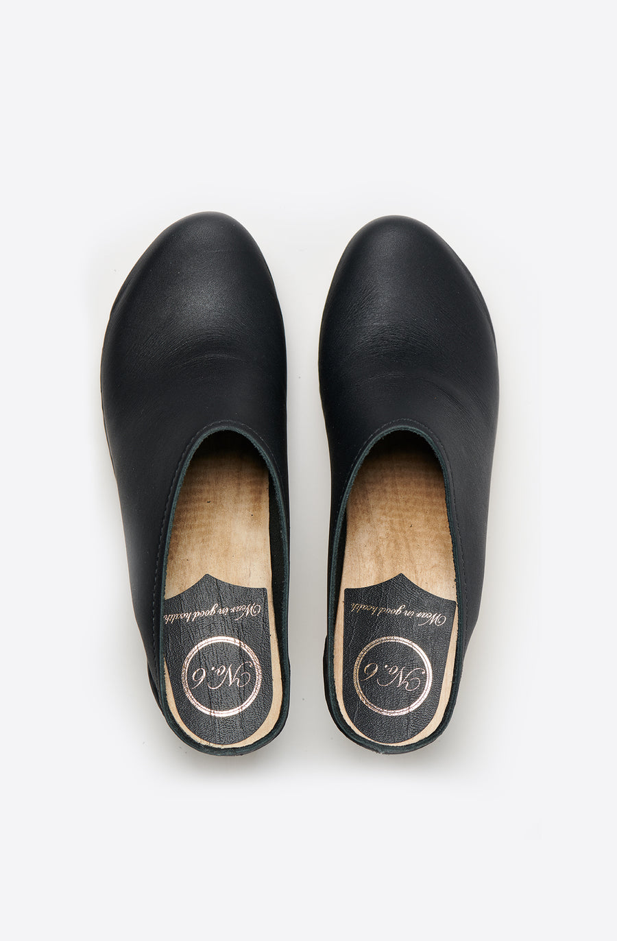 New School Wedge Clog-black