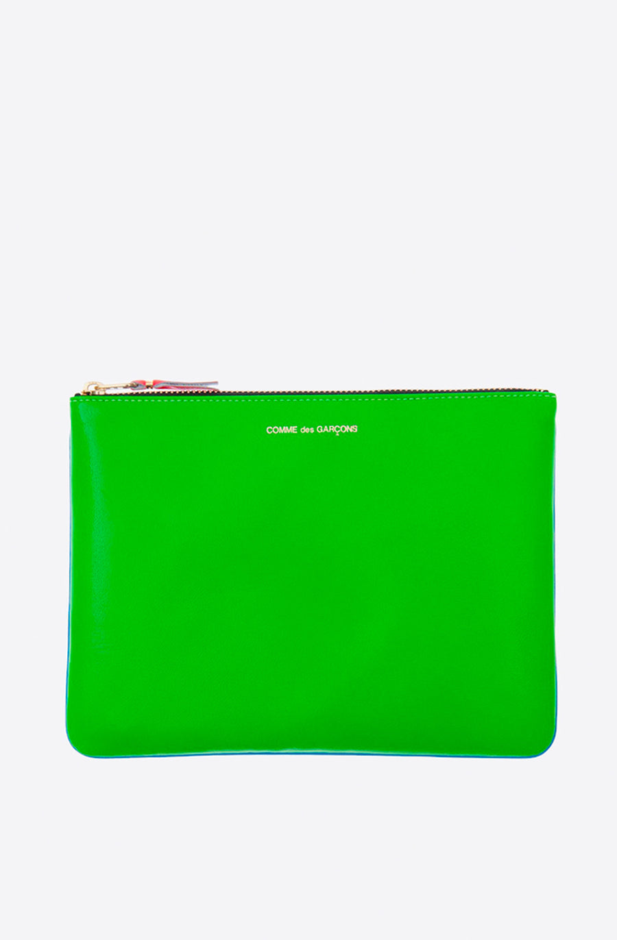 Super Fluo Large Zip Pouch-green/blue
