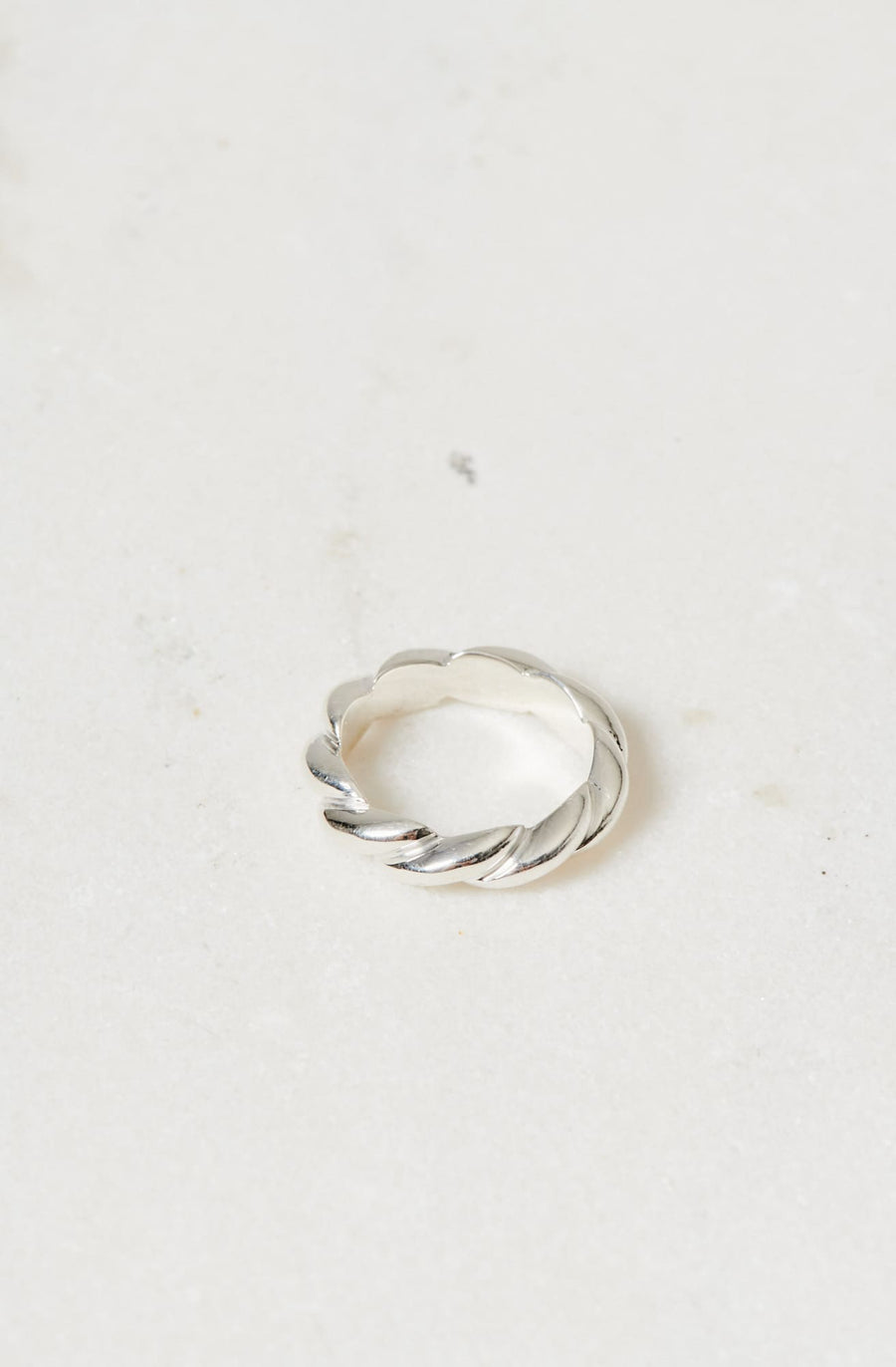 Small Rope Ring-sterling silver