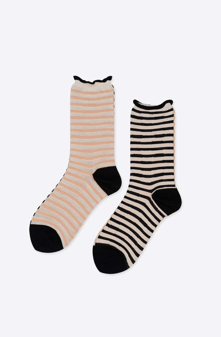Not a Zig Zag Crew Sock-black multi