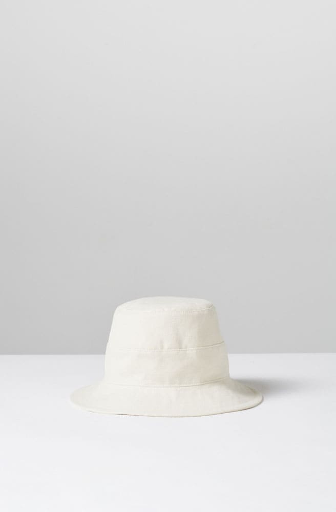 Cotton Bucket Hat-cream