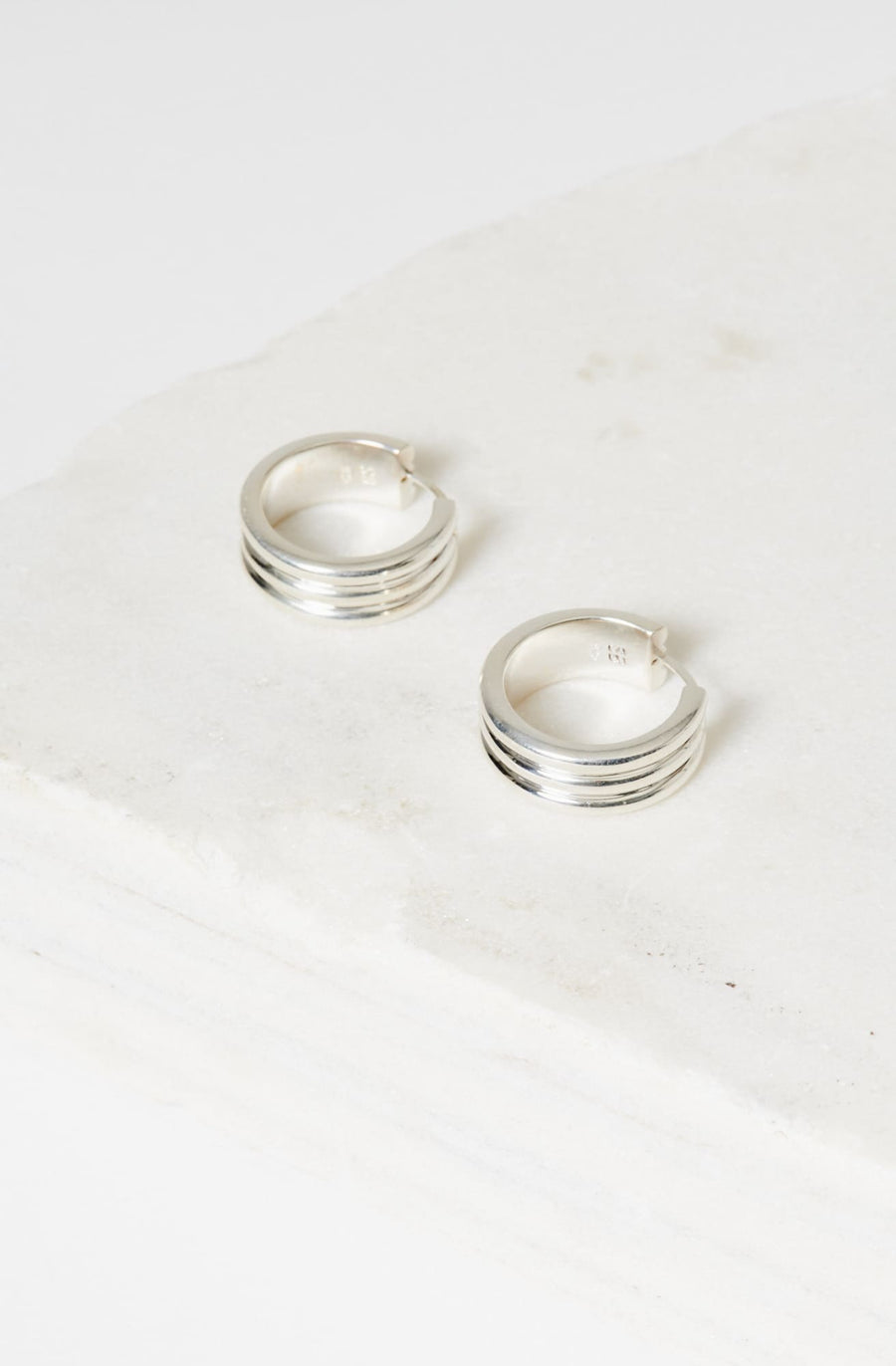 Large Three Sisters Hoop Earrings-sterling silver