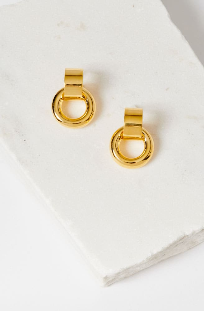 Piazza Earrings-gold plated