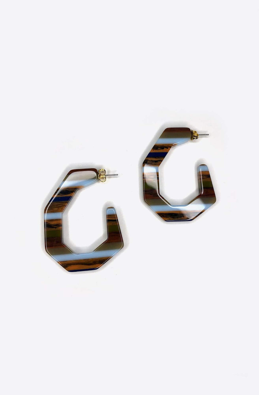 Baby Factor Earrings-multi stripe